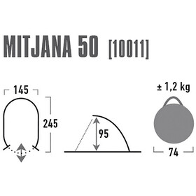 High Peak Mitjana 50 - gris